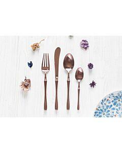 أدوات طعام Anccey باللون Rosegold المطفي