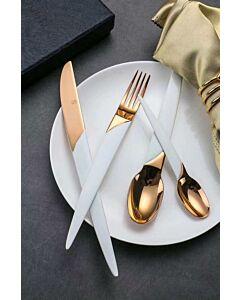 أدوات طعام Grand- برونزي وأبيض