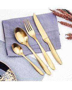 طقم أدوات طعام فيرونيكا-ذهبي