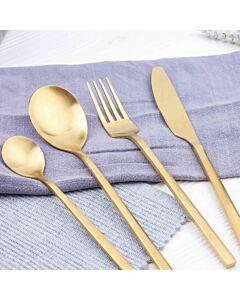 طقم أدوات طعام رينبو- ذهبي