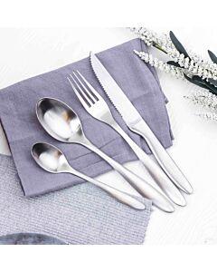 طقم أدوات طعام فيرونيكا- فضي