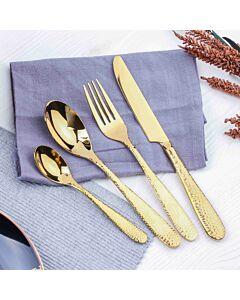 طقم أدوات طعام ليديا- ذهبي