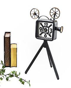 ساعة ديكور OLD MOVIE-لون أسود