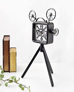 ساعة ديكور OLD MOVIE-لون رمادي