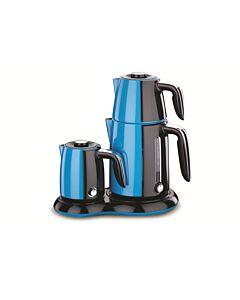 جهاز تحضير شاي وقهوة Korkmaz Cay & kahve-لون ازرق
