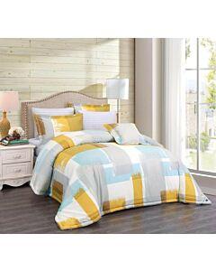 طقم مفارش سرير نفرين بوجهين Art- أصفر