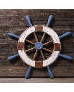 تحفة Boat wheel-أزرق