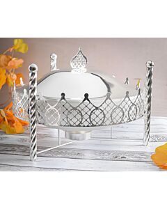 حافظة طعام Crown- مقاس وسط فضي
