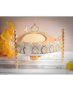 حافظة طعام Crown- مقاس كبير ذهبي