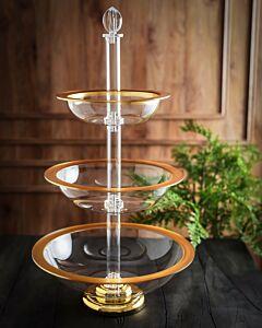 طبق تقديم Royal Fountain- ذهبي