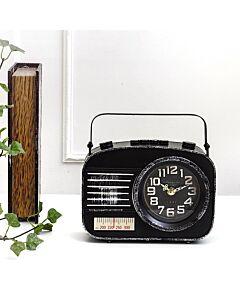 ساعة ديكور RADIO- أسود
