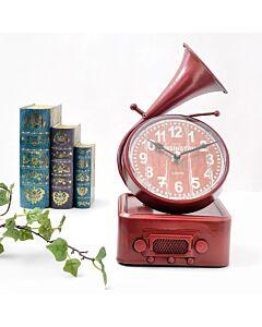 ساعة ديكور gramophone- احمر