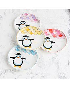 مجموعة 4 صحون حلى Penguin