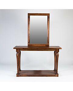 طاولة مدخل مع مرايا Classic- لون بني غامق