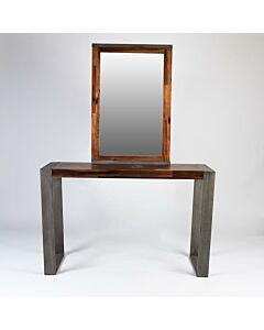 طاولة مدخل مع مرايا Simple Unique- لون بني غامق