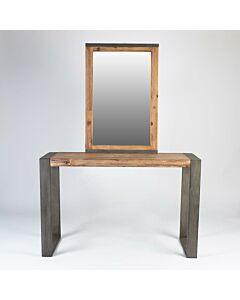 طاولة مدخل مع مرايا Simple Unique- لون بيج
