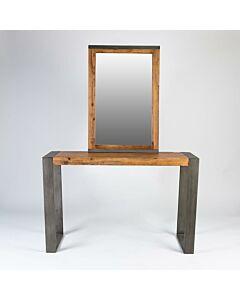 طاولة مدخل مع مرايا Simple Unique- لون خشبي