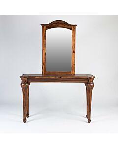 طاولة مدخل مع مرايا Perfect- لون بني غامق