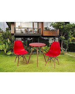 مجموعة كرسيين وطاولة Modern Design- أحمر
