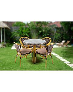 مجموعة طاولة وكراسي حديقة Yellow Garden