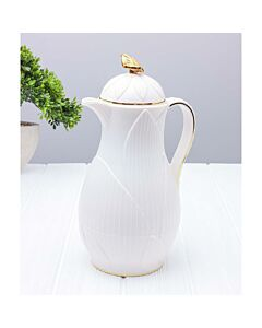 ترمس شاي أو قهوة رويال ليف- أبيض سعة 0.7 ليتر