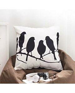 غطاء وسادة birds and twigs