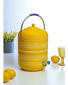حافظة ماء مع صنبور كابور- أصفر