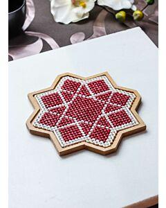 لبادة قدر الفن الإسلامي الثماني - أحمر - صغير