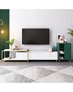 طاولة تلفاز مع وحدة رفوف جانبية سمارت ديزاين