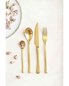 أدوات طعام Leuven باللون الذهبي المطفي
