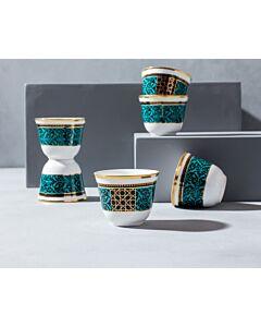 طقم فناجين قهوة عربية ديكوريتيد تيل