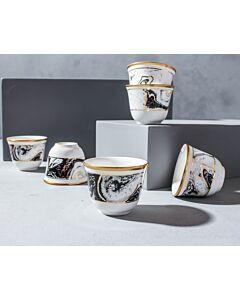 طقم فناجين قهوة عربية ماربيلا -أبيض