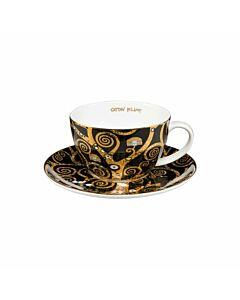 كوب قهوة كليمت تري أوف لايف مع صحن, 250 مل, غوبل-Goebel