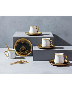 طقم فناجين قهوة وملاعق غلورياس- ل6 أشخاص