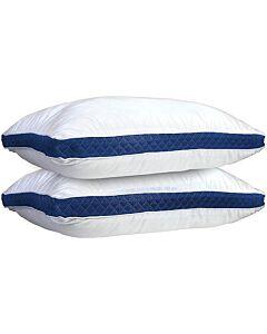 وسادة كول الفندقية الباردة مزدوج - أبيض وأزرق