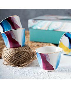 فناجين قهوة ماربيلا- لون أزرق
