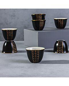 فناجين قهوة عربية باليرمو- لون أسود