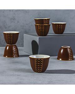 فناجين قهوة عربية باليرمو- لون بني