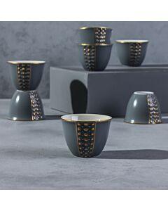 فناجين قهوة عربية باليرمو- لون رمادي