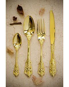 أدوات طعام بتصميم Tiamon باللون الذهبي.