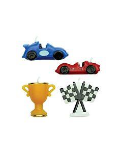 مجموعة شموع على شكل سيارات سباق عدد 4، بي ام اي