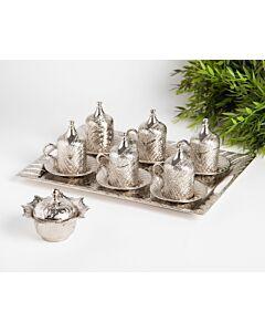 طقم قهوة ملكي فاخر هاينيس- 15 قطعة