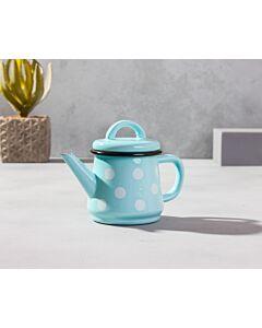 براد شاي كيوت-أزرق سماوي مع دوائر بيضاء
