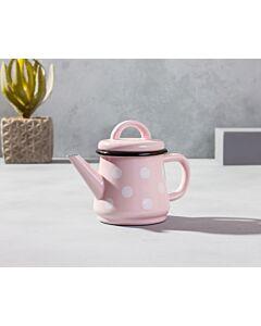 براد شاي كيوت- كريم مع دوائر بيضاء
