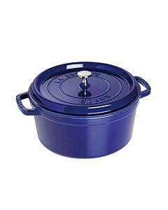 كسرولة مستديرة، لون أزرق داكن، حجم 28 سنتم، ستوب-Staub