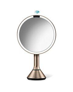 مرآة استشعار متحكمة عن طريق اللمس، لون ذهبيّ زهري، سيمبل هيومان-Simplehuman
