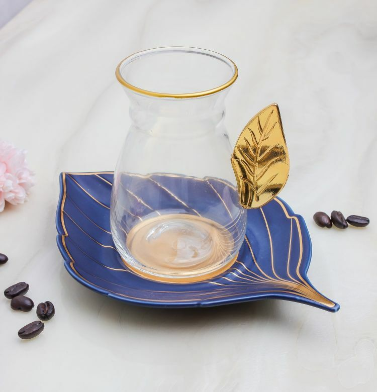 بيالات شاهي غلامور ليف- أزرق MEN-PL-66-IST-BL كاسات شاي 179.000000