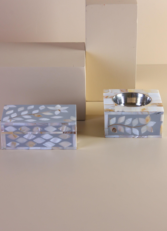 طقم مبخرة مع صندوق سيندار- لون رمادي ESN-0260900001-GREY