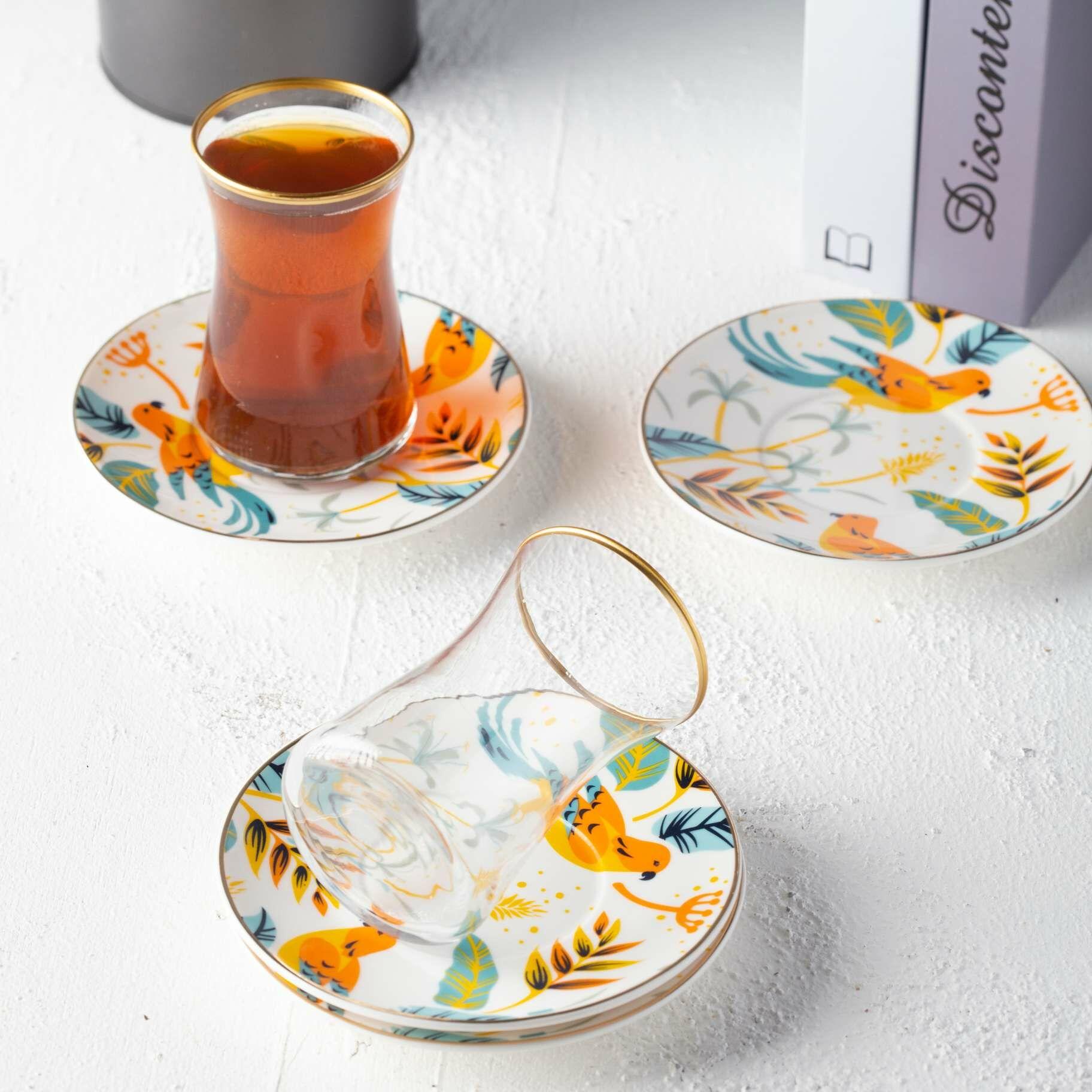 طقم بيالات شاهي كولورفل بيرد MAWA-1000008556287 القهوة و الشاي 249.000000