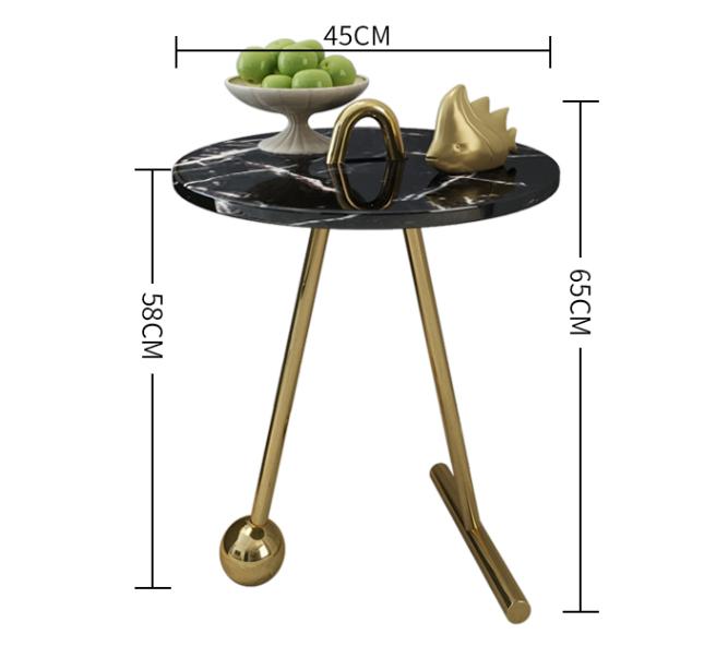 طاولة جانبية بلاك ماربل توب TOR-0036 اثاث 1299.000000